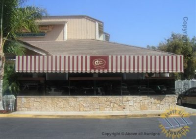 Restaurant Awnings in Palm Desert