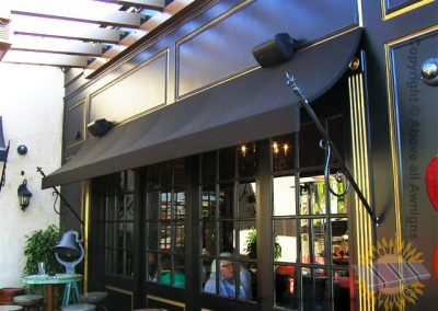 Commercial Spear Awnings - front of store