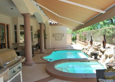 Retractable Awnings to extend an existing covered patio