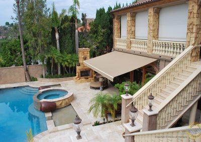 Retractable Awning in Santa Ana Heights Villa