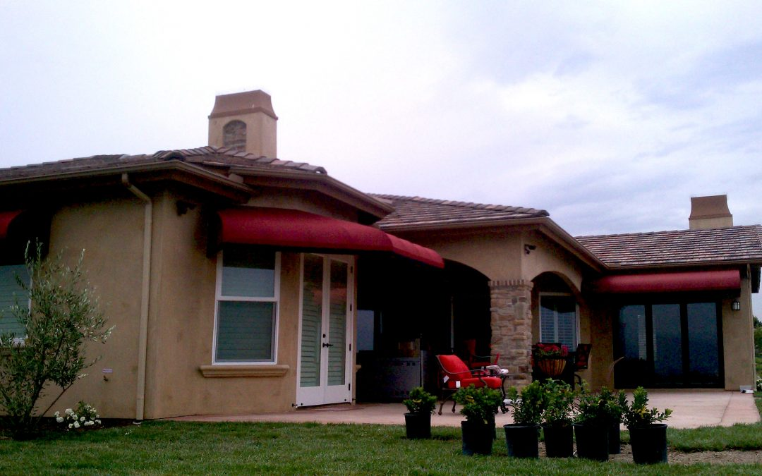 Red Residential Awning