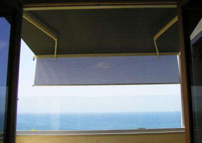 Sun Screens on Beach House Balcony