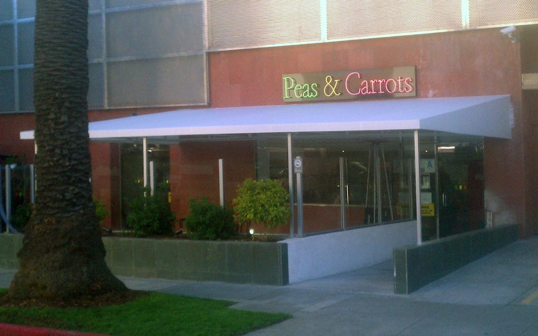 Peas and Carrots Restaurant Awning