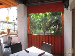 Patio Drop Shade at Restaurant