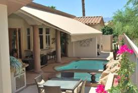 Pool Under Retractable Awning in Palm Springs