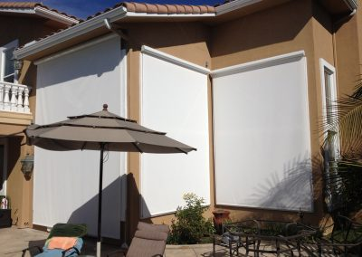 White Backyard Window Drop Rolls