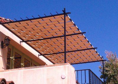 Woven Stationary Balcony Cover