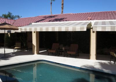 Palm Springs Striped Retractable Awnings