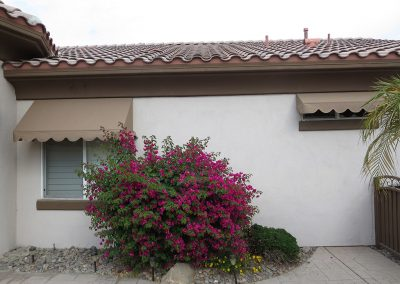Tan Window Awnings Rancho Mirage